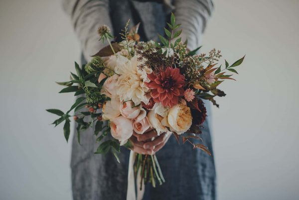 Beautiful wild flower wedding bouquet by 3 Acre Blooms as featured on eeek! weddings
