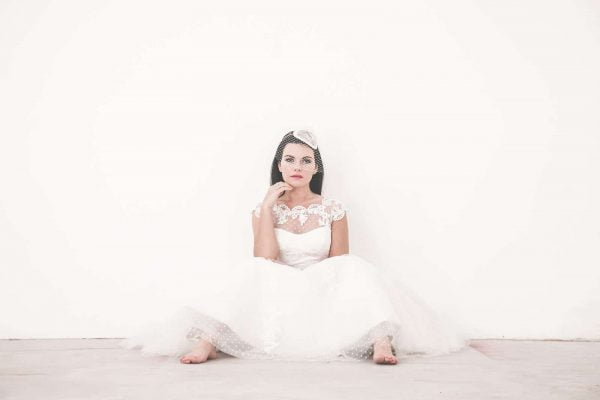 A photograph of a bride in a wedding dress perfect for a bridal catwalk