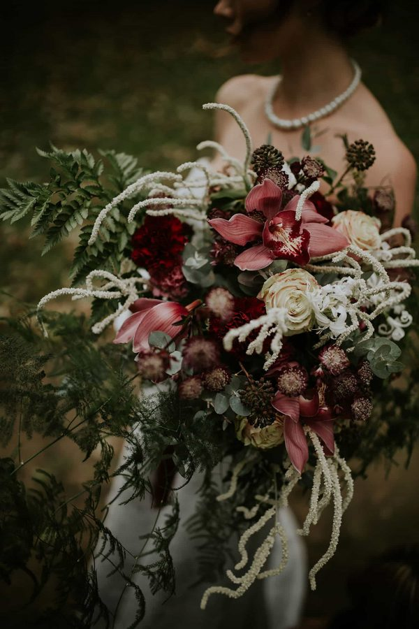 Beautiful large bridal bouquet designed by Philip Corps Flowers as featured on eeek! weddings