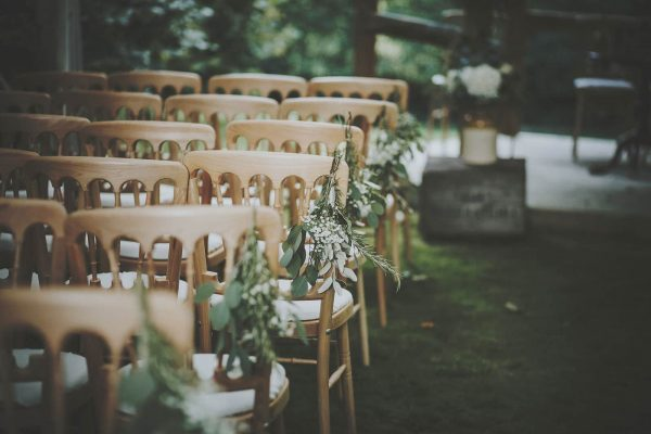 A photograph of an outdoor wedding ceremony organised by a Wedding Planner specialist Cornwall