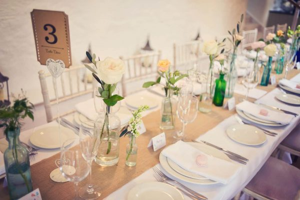 Table styling using soft natural colours by Inspire Hire as featured on eeek! weddings