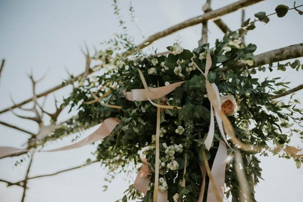 A photograph of natural, rustic and beautiful wedding flowers