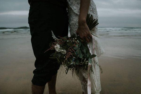 Lusty Glaze Beach Heather and Liam