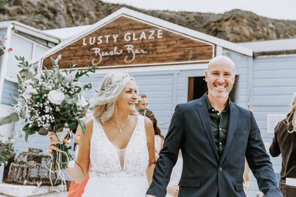 Lusty Glaze Beach Weddings Charlotte and Dan