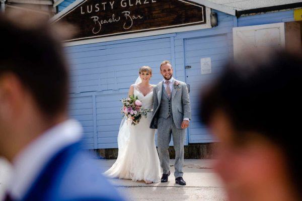 Lusty Glaze Beach Weddings Alex and Scott